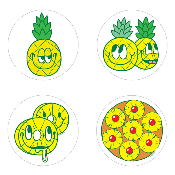 Scratch and Sniff Sticker Set of 16 - Pineapple