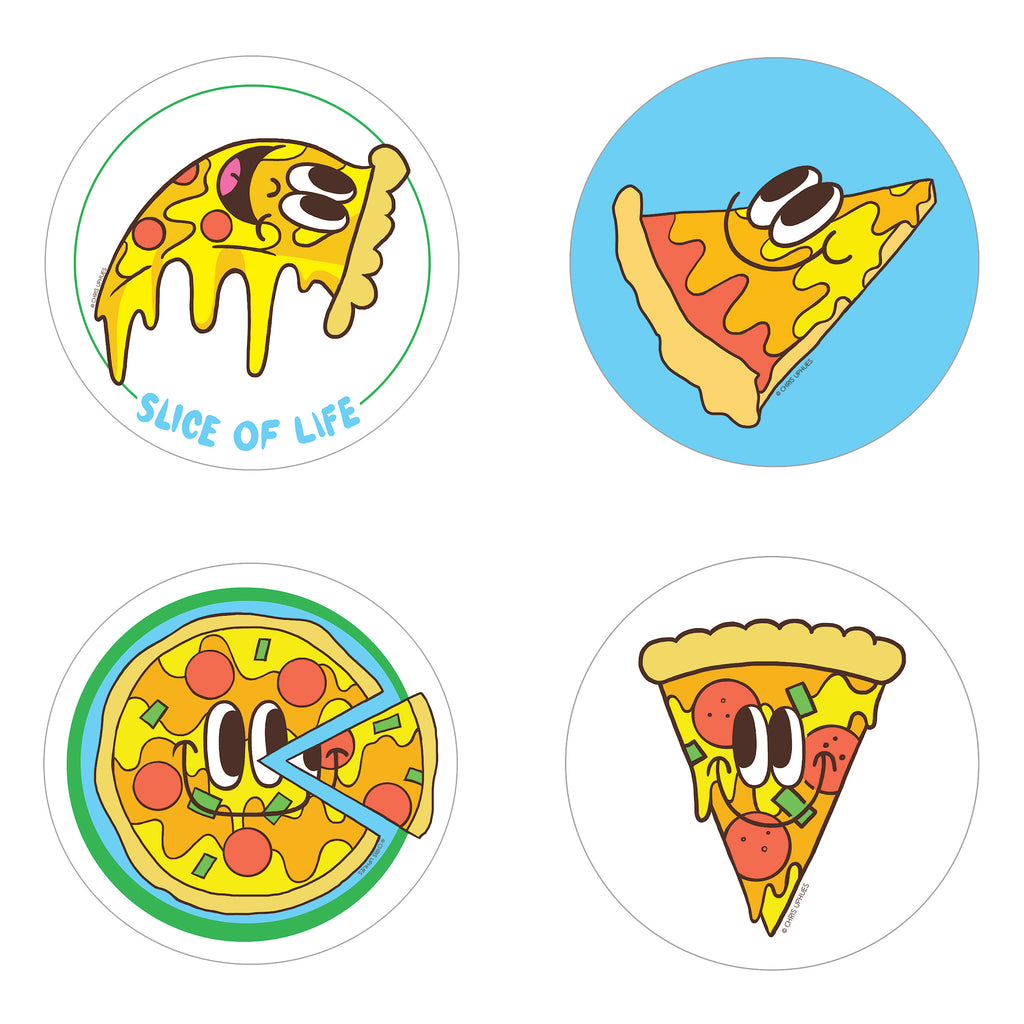Scratch and Sniff Sticker Set of 16 - Pizza