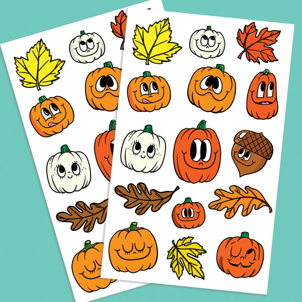 Happy Pumpkin Sticker Set