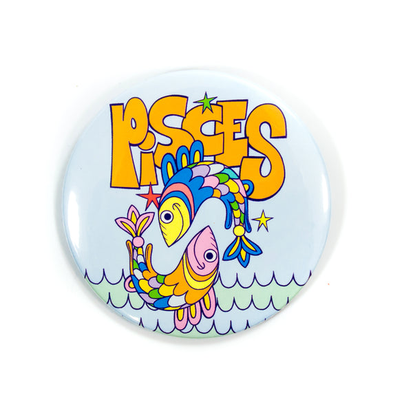 XL Zodiac Button: Pisces
