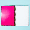 Black Rainbow Heart Notebook
