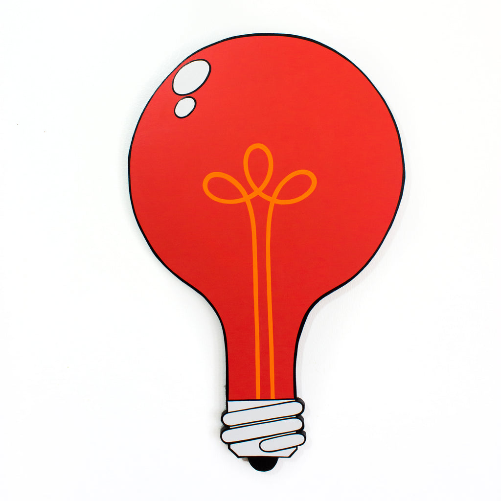 RED LIGHT SPECIAL Light Bulb Cut-Out Painting