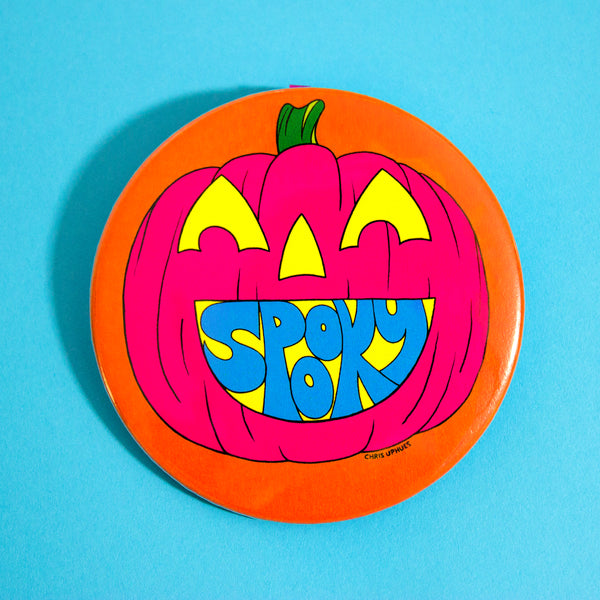 "Spooky 3"" Pin-Back Button"