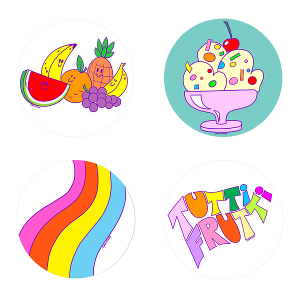 Scratch and Sniff Sticker Set of 16 - Tutti Frutti