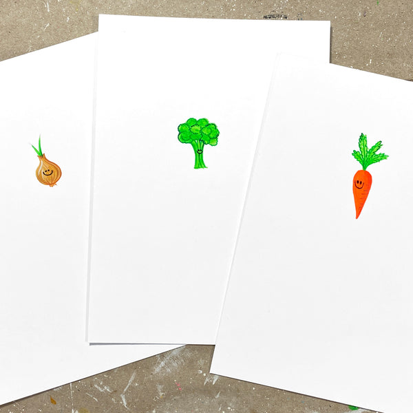 Mini Paintings: Veggie Sampler