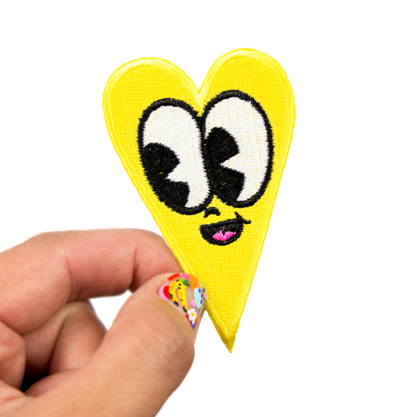 Lemon Yellow Heart Patch