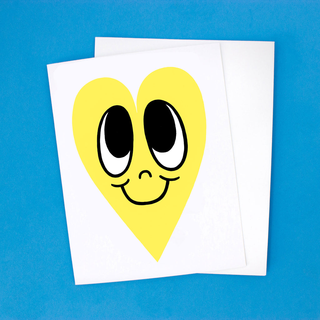 Happy Heart Card - Yellow Heart