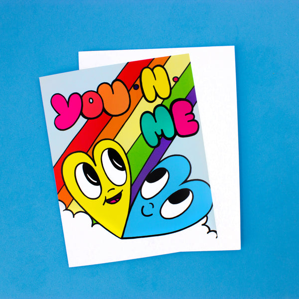 Rainbow Heart Card - You N Me Card