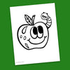 Apple Coloring Page - Free Downloadable PDF