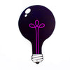 ULTRAVIOLET BLACK LIGHT Light Bulb Cut-Out Painting