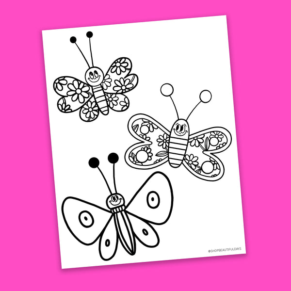 Butterfly Coloring Page - Free Downloadable PDF