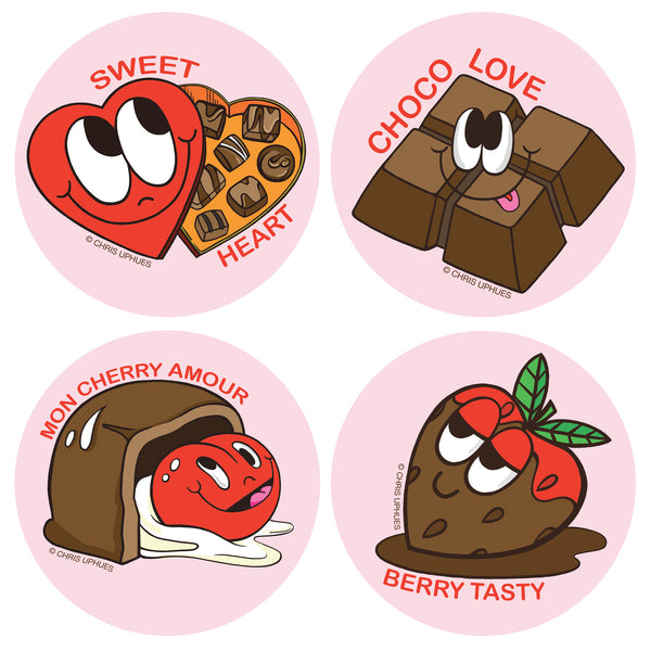 Scratch and Sniff Sticker Set of 16 - Chocolates
