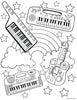 Keytar Coloring Page - Free Downloadable PDF