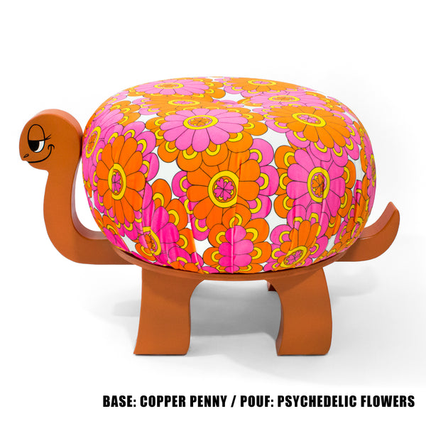 *BUILD YOUR OWN* Perfect Velvet Turtle Ottoman