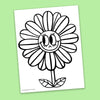 Flower Coloring Page - Free Downloadable PDF