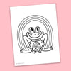 Frog Coloring Page - Free Downloadable PDF