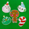 Glitter Christmas Vinyl Sticker Set