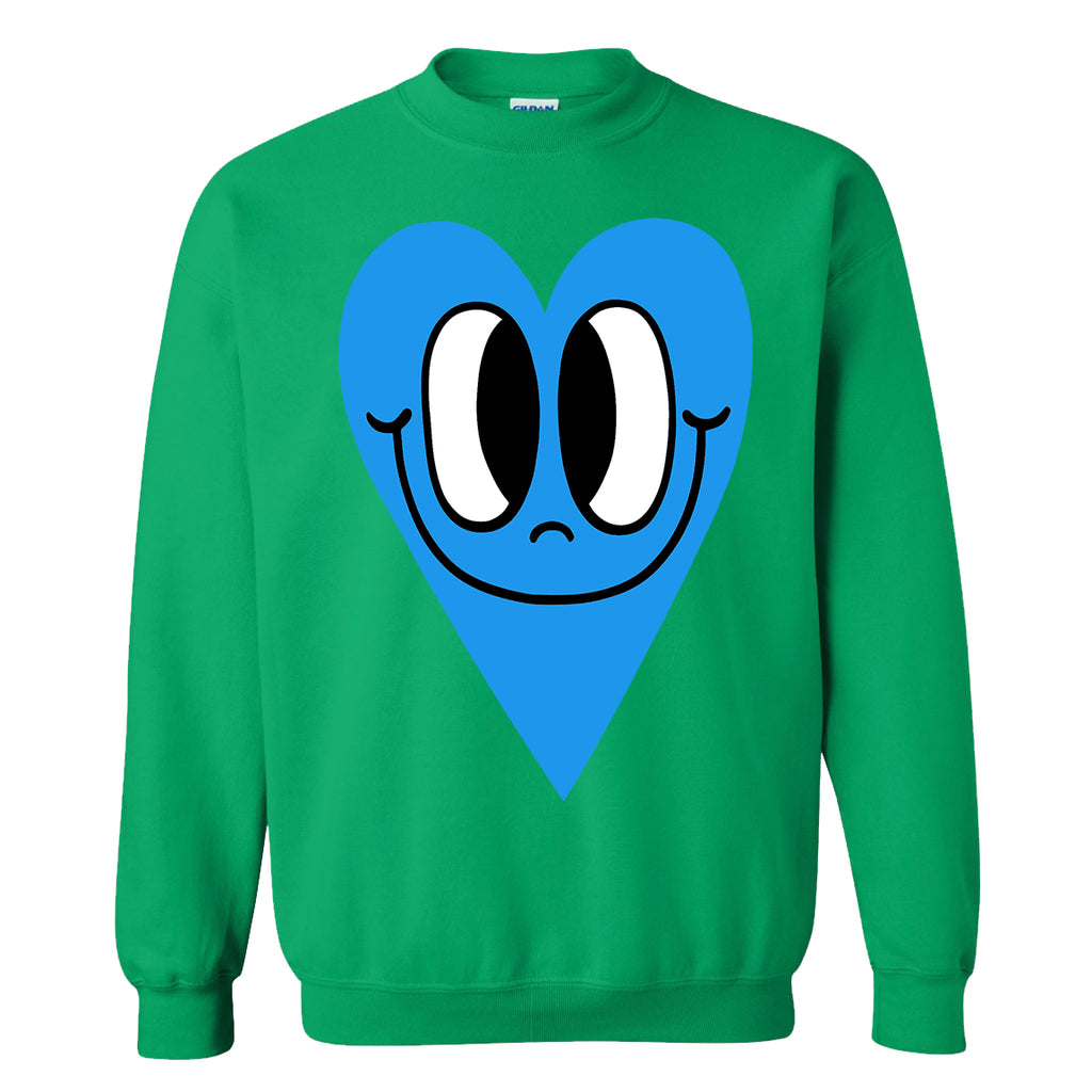 Neon Blue Heart Sweatshirt