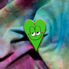 Emerald Green Heart Pin