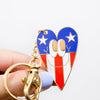 Stars & Bars Heart Keychain