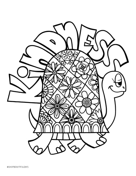Kindness Coloring Page - Free Downloadable PDF – Beautiful Days