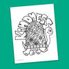 Kindness Coloring Page - Free Downloadable PDF