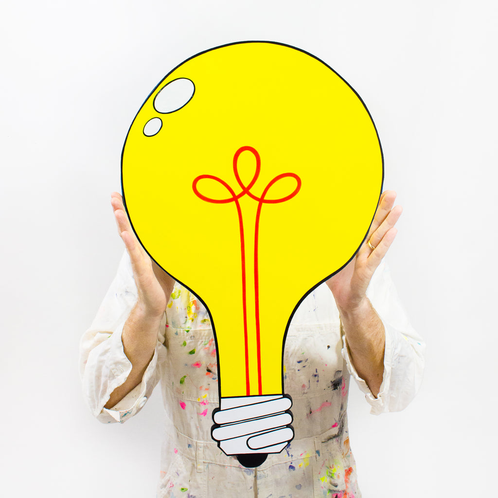 BRIGHT IDEA Light Bulb Cut-Out Painting