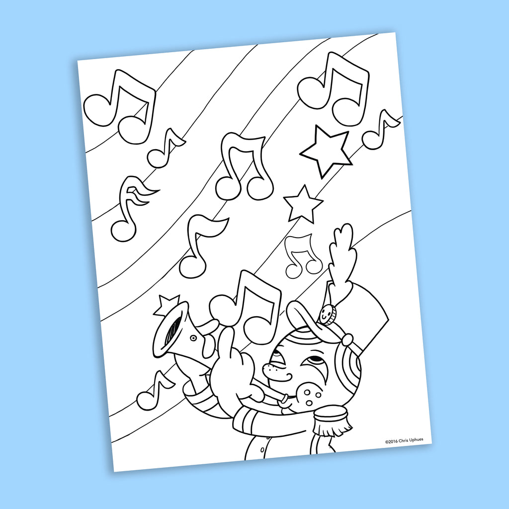 Marching Band Coloring Page - Free Downloadable PDF