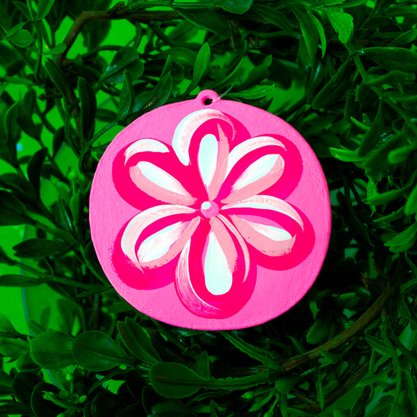 Flower Wooden Ornament