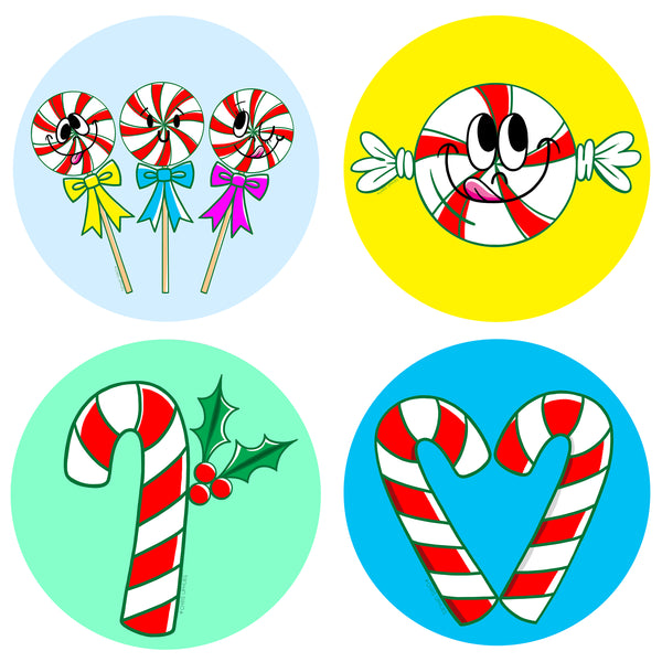 Scratch and Sniff Sticker Set of 16 - Peppermint