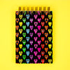 Black Rainbow Heart Memo Pad