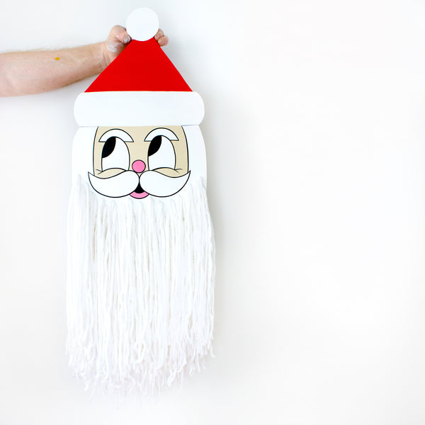 Super Beard Santa Claus Cut-Out