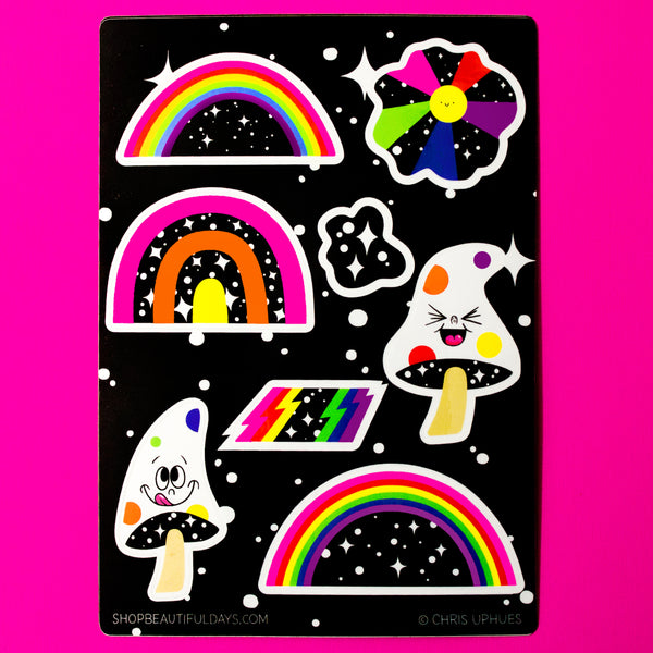 Space Rainbow Sticker Sheet