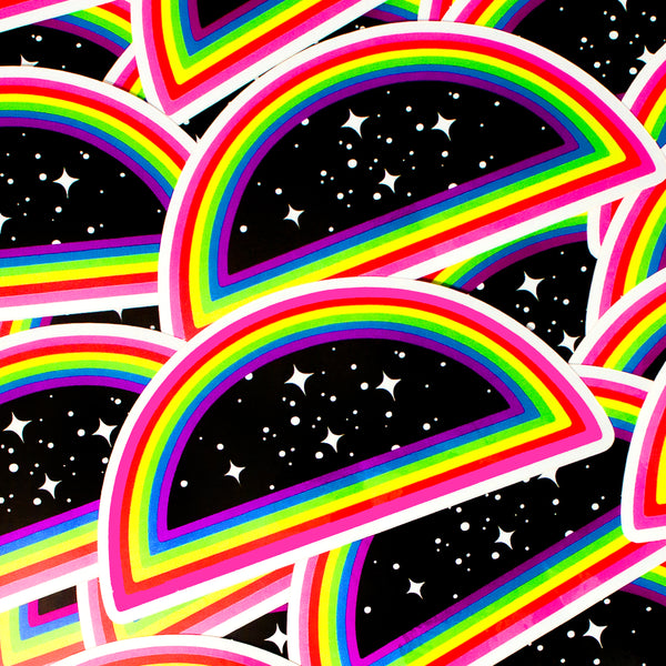 XL Infinity Space Rainbow Stickers Set of 3