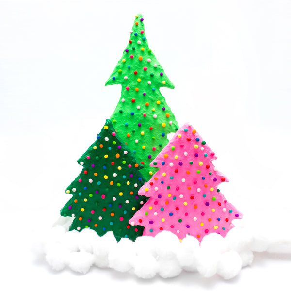 Papier-Mâché Christmas Tree