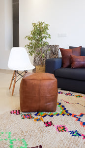 THE CUBE LEATHER POUF - Milsouls