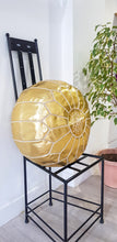GOLD LEATHER POUF - Milsouls
