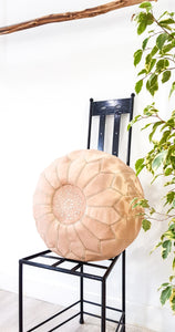 NATURAL LEATHER POUF