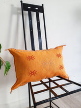ORANGE CACTUS SILK PILLOW