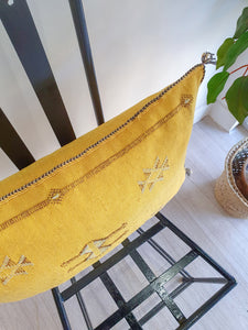 YELLOW CACTUS SILK PILLOW