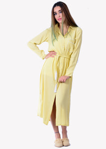 BEVERLY YELLOW SHIRT DRESS - Milsouls