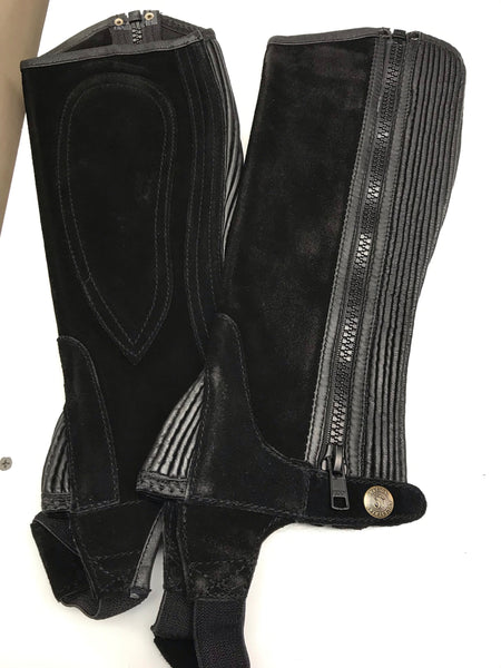 Ovation ladies Suede Ribbed Half Chaps