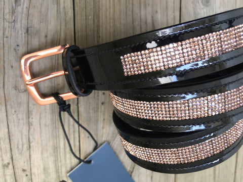 ELT Rose Gold Patent Leather Belt