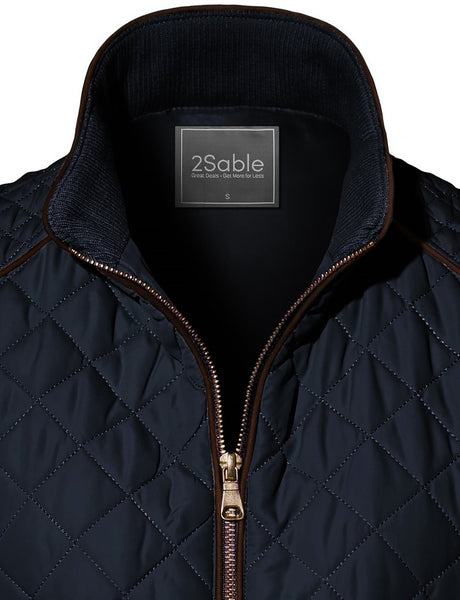 2Sable Quilted Puffer Vest-Navy