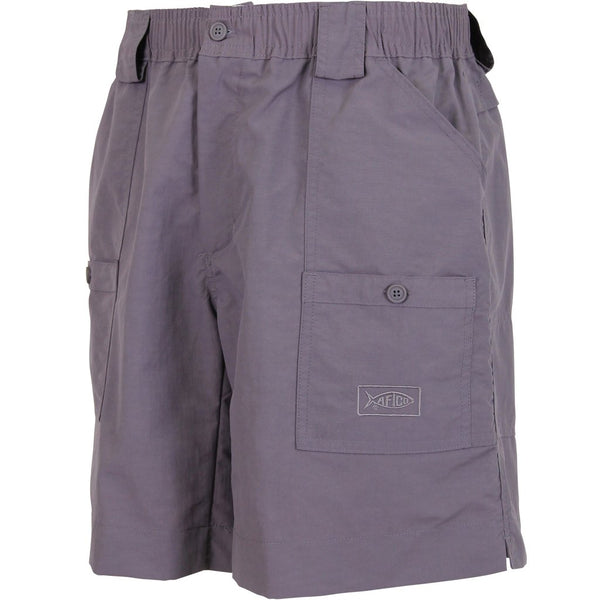 AFTCO MO1L Long Fishing Short-Dark Plum