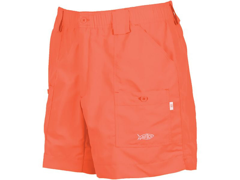 "AFTCO M01 ""Original"" Fishing Shorts- Coral - Bennett's Clothing"