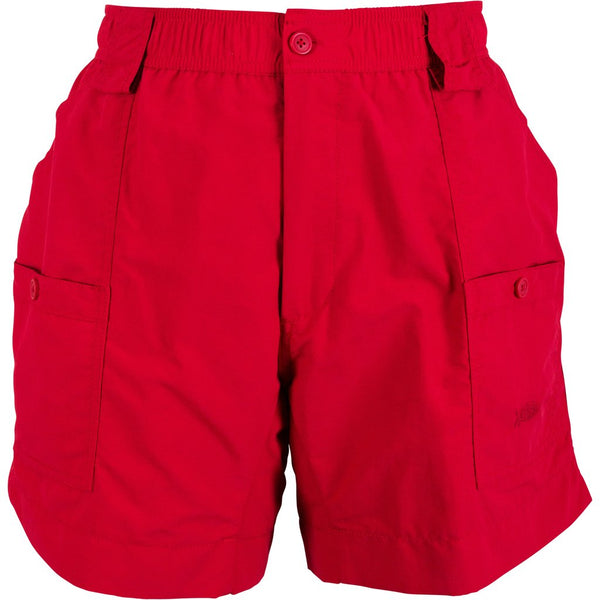 AFTCO Original MO1 Fishing Shorts-Red