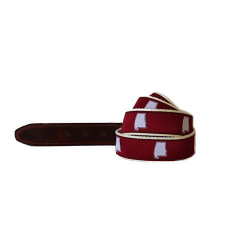 State Traditions Alabama Gameday Belt-Crimson - Bennett's Clothing - 1