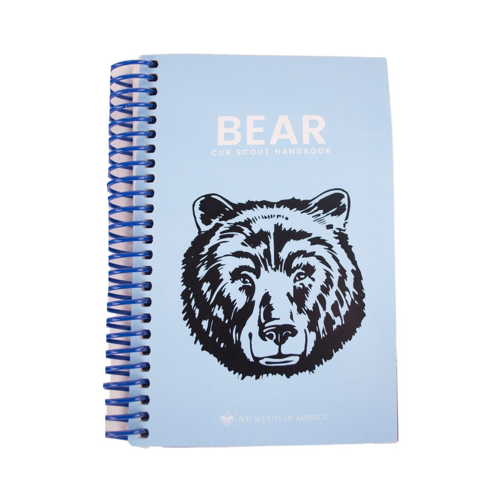 Coil Bound Bear Scout Handbook -Shop Bennetts Clothing for all your Scouting needs. BSA Authorized Retailer for over 35 years