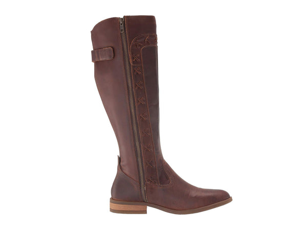 Born Albi Tall Riding Boot-Brown Full Grain Leather